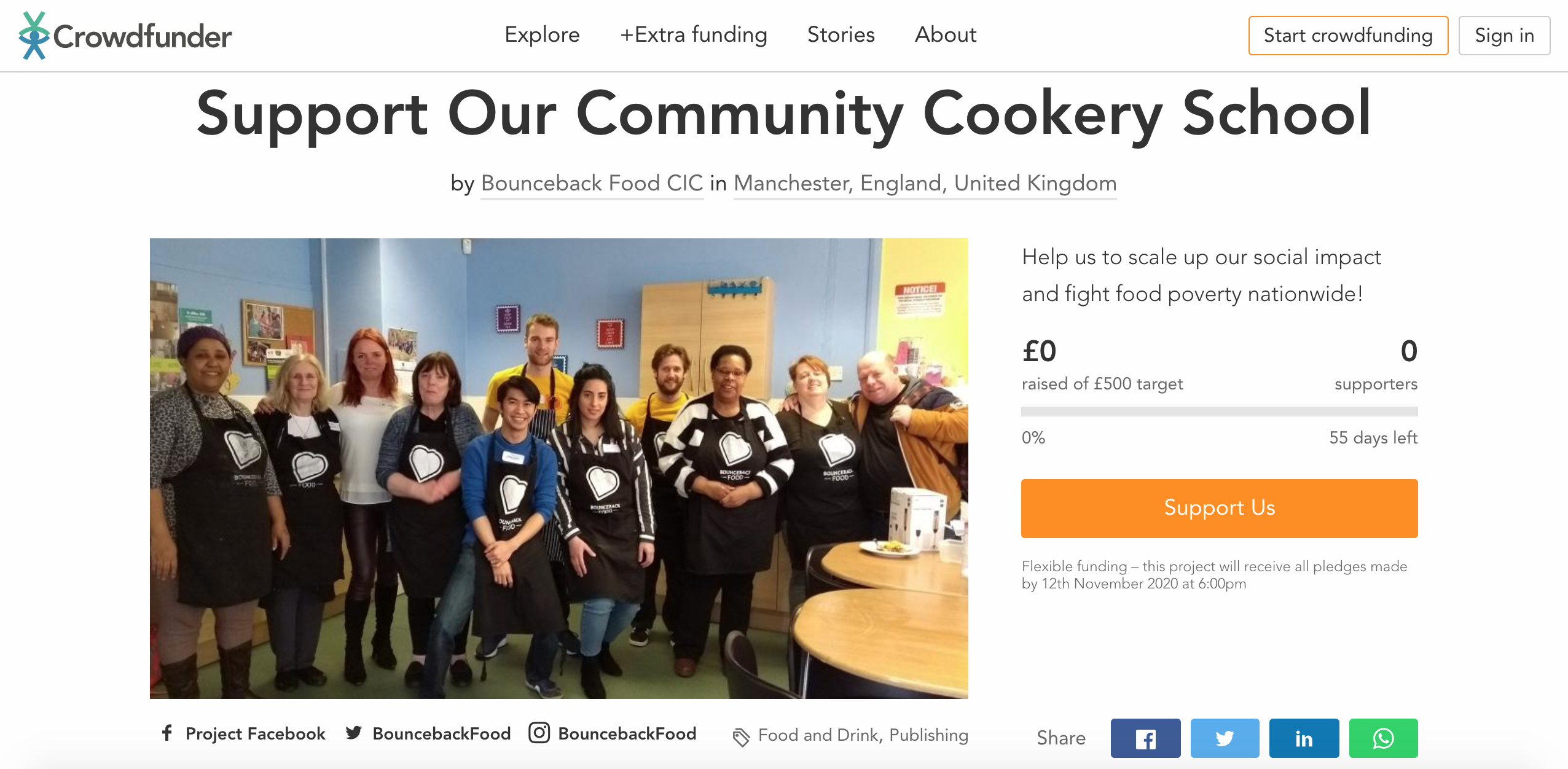 Bounceback Food CIC Crowdfunding Campaign