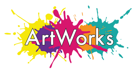 The ArtWorks logo which is splashes of colourful paint with 'ArtWorks' laid on top.