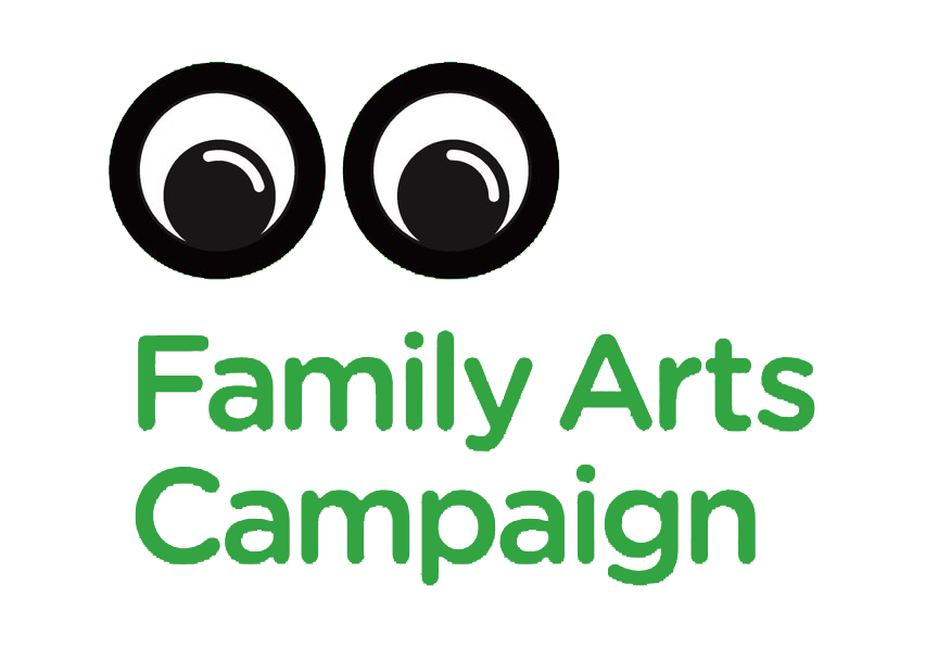 Family Arts Campaign logo which features two eyes.