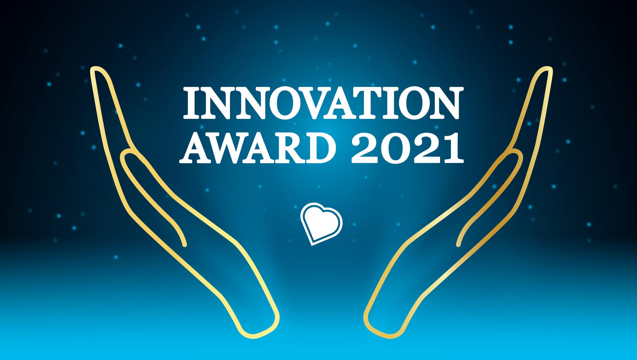 Logo for Innovation Award on starry background