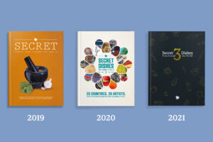 Image of 3 books in the Secret Dishes From Around the World series.
